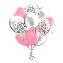 Облако шариков Розовая дымка