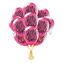 Облако шариков Розовая зебра