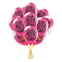 Фото №1: Облако шариков Розовая зебра