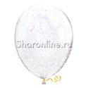 Фото №2: Облако шариков с белым голографическим конфетти