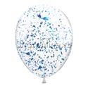 Фото №2: Облако шариков с голубым голографическим конфетти