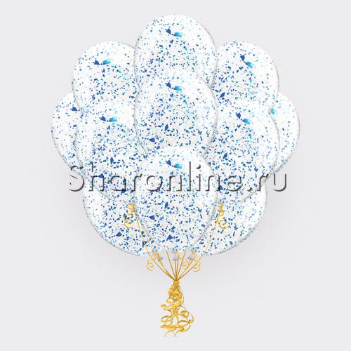 Фото №1: Облако шариков с голубым голографическим конфетти