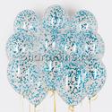Фото №1: Облако шариков с круглым голубым конфетти