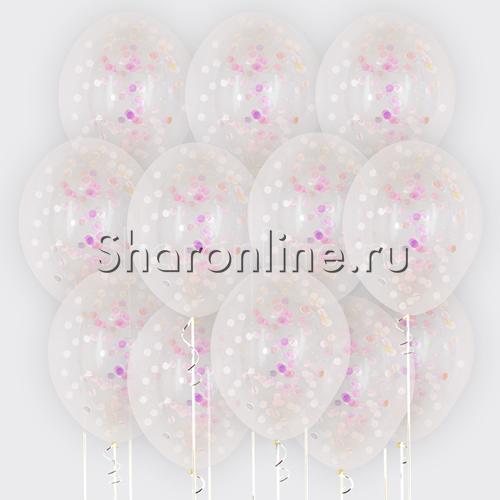Фото №1: Облако шариков с круглым перламутровым конфетти