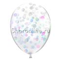Фото №2: Облако шариков с круглым перламутровым конфетти