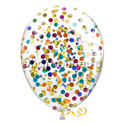 Фото №2: Облако шаров с круглым разноцветным конфетти