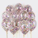 Фото №1: Облако шаров с круглым разноцветным конфетти