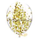 Фото №3: Облако шариков с золотым конфетти