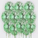 Фото №1: Облако шаров с зеленым конфетти