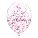 Фото №2: Облако шариков с малиновым голографическим конфетти