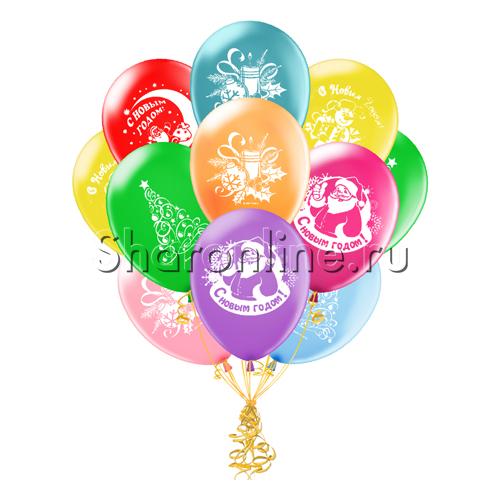 Фото №1: Облако шариков С Новым годом!