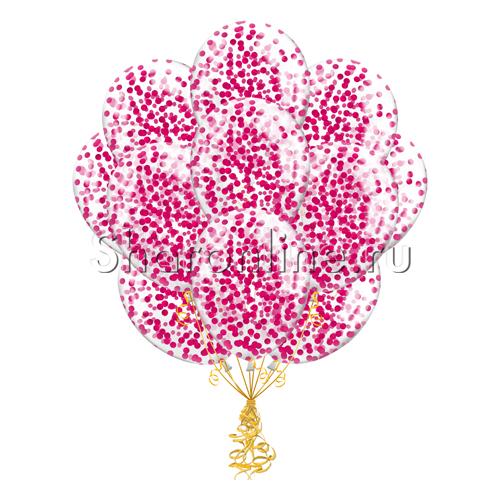 Фото №1: Облако шариков с круглым малиновым конфетти