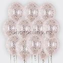 Фото №1: Облако шариков с серебряным конфетти в виде хлопьев