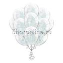 Фото №1: Облако шариков с серебряным конфетти в виде полосок