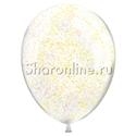Фото №2: Облако шариков с золотым конфетти в виде полосок