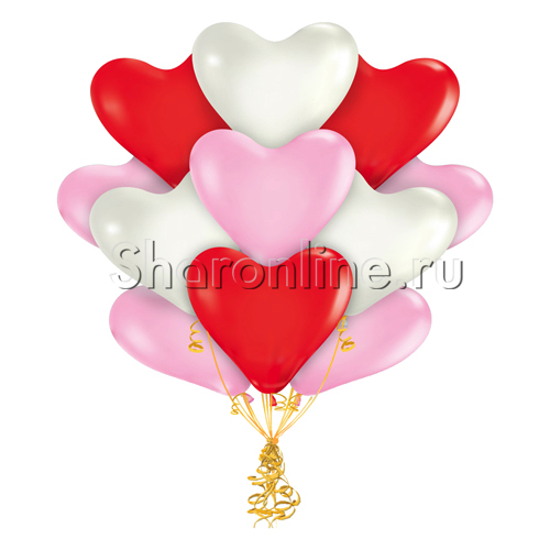 Фото №1: Облако шариков сердечек Ассорти Премиум