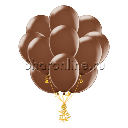 Фото №1: Облако шариков шоколадного цвета
