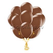 Облако шариков шоколадного цвета