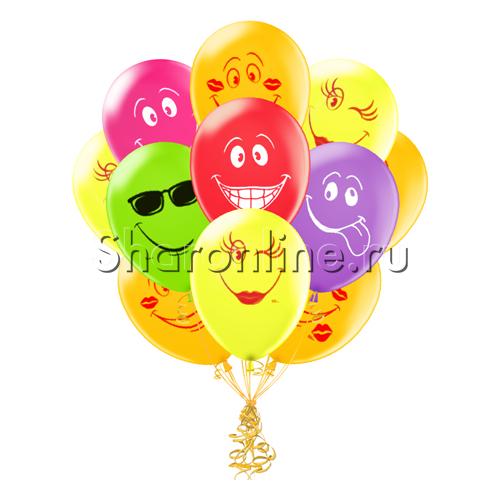 Фото №1: Облако шариков Смайликов Ассорти