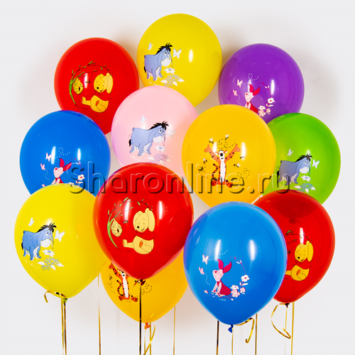 """Фото №1: Облако шариков """"Винни-Пух"""""""