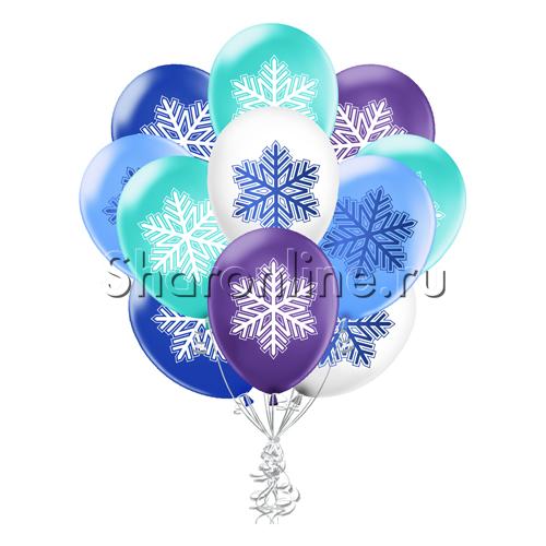"""Фото №1: Облако шариков """"Зимнее настроение"""""""
