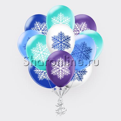 """Фото №2: Облако шариков """"Зимнее настроение"""""""
