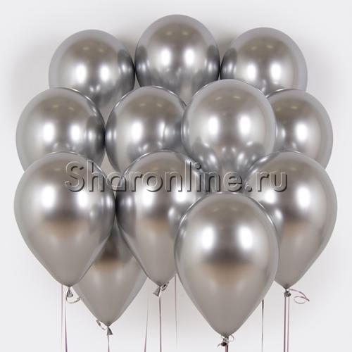 "Фото №1: Облако шаров ""Хром серебро"""