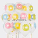 """Фото №2: Облако шаров """"Пончики"""""""