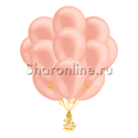 "Фото №2: Облако шаров ""Розовое золото"" металлик"