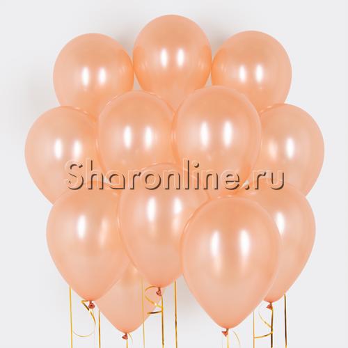 "Фото №1: Облако шаров ""Розовое золото"" металлик"