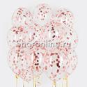 """Фото №1: Облако шаров с конфетти """"Розовое золото"""""""
