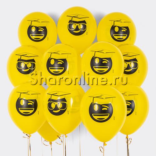 """Фото №1: Облако шаров """"Смайлы Выпускник"""""""