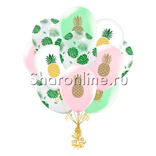"""Фото №2: Облако шаров """"Тропический микс"""""""