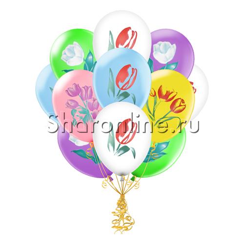 """Фото №2: Облако шаров """"Тюльпаны"""""""