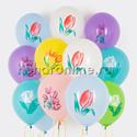 """Фото №1: Облако шаров """"Тюльпаны"""""""