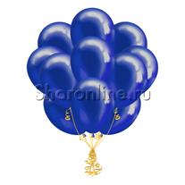 Облако синих шариков металлик