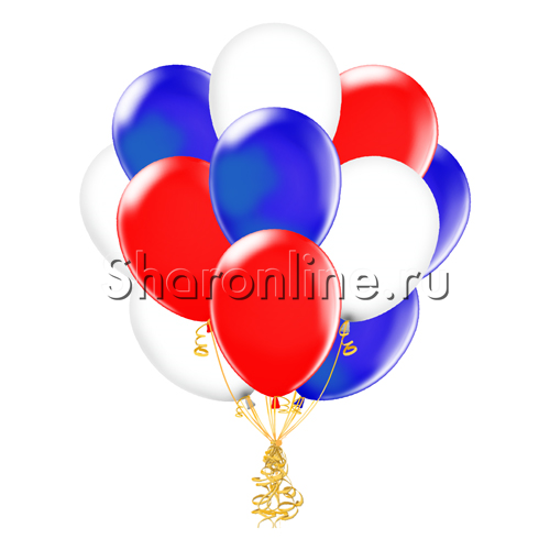 Фото №1: Облако шариков Триколор