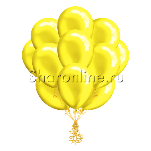 Фото №1: Облако желтых шариков металлик