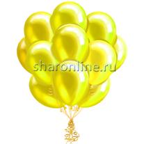 Облако желтых шариков металлик