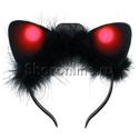 """Фото №3: Ободок """"Ушки кошки"""" черные с подсветкой"""