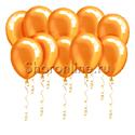 Фото №1: Оранжевые шары металлик