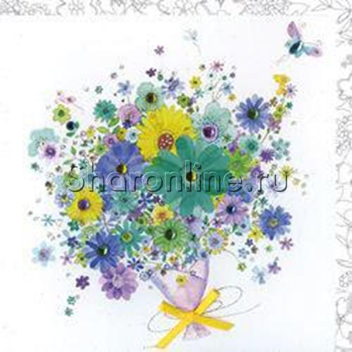 """Фото №1: Открытка """"Цветы в подарок"""""""