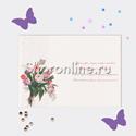 """Фото №2: Открытка """"Поздравляем!"""" тюльпаны 171х123мм"""