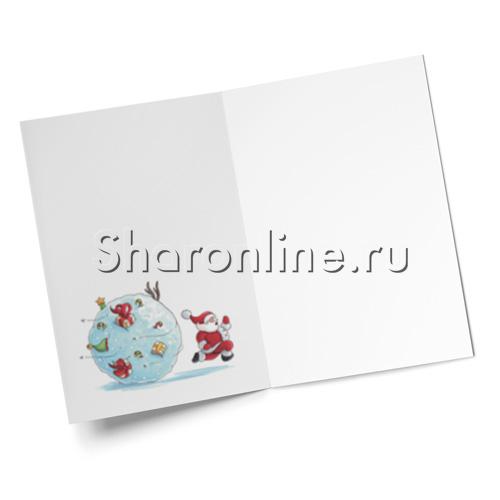 """Фото №2: Открытка """"Снежный ком"""" 145*105 мм"""