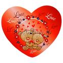 "Фото №1: Открытка-валентинка ""Love мишки"" 6,8*6,2 см"