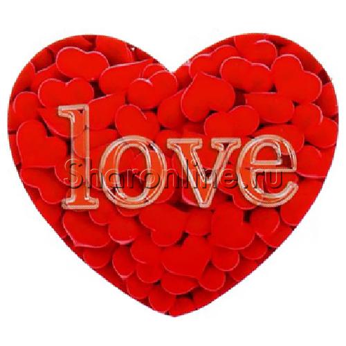 "Фото №1: Открытка-валентинка ""Love сердечки"" 6,8*6,2 см"