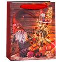 """Фото №1: Пакет подарочный """"Новогодний"""" 23*18*10 см"""