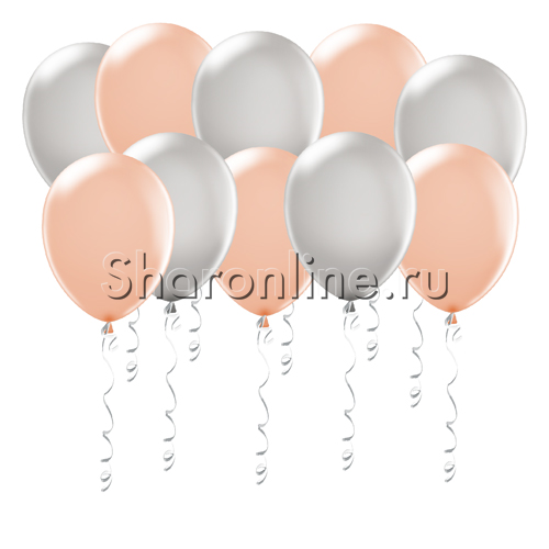 Фото №1: Персиково-серые шары