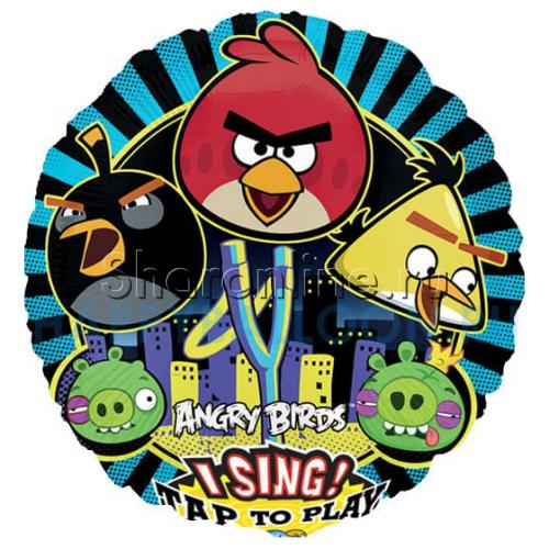"Фото №1: Поющий шар ""Angry Birds"" 71 см"