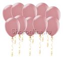 Фото №1: Пудрово-розовые матовые шары